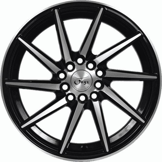 "16"" Onyx 1615 Black Glossy & Polished Metal"