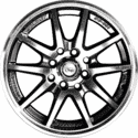 "15"" Onyx 1502 Metal Polished & Gloss Black 8h"