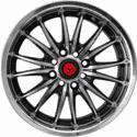 "15"" Lenso SC-09 Metal Polished & Gloss Black"