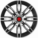 "15"" Lenso SC-AZURA Black Satin & Matt Silver"