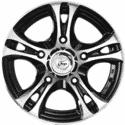 "16"" Onyx 1602 Black Glossy & Polished Metal"