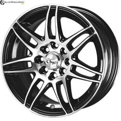 "15"" Onyx 1539 Black Glossy & Polished Metal 8h"