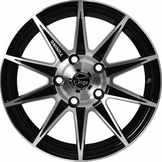 "15"" Onyx 468 Black Glossy & Polished Metal"