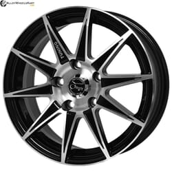 "15"" Onyx 468 Black Glossy & Polished Metal"
