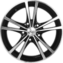 "15"" Onyx NF182 Black Glossy & Polished Metal"