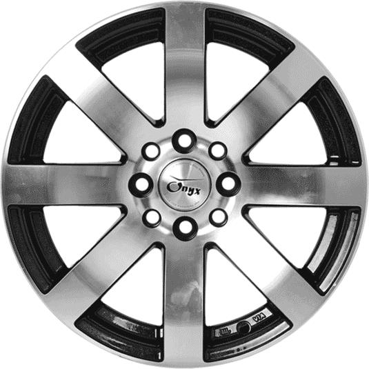 "15"" Onyx 1515 Metal Polished & Gloss Black w Silver Flakes"
