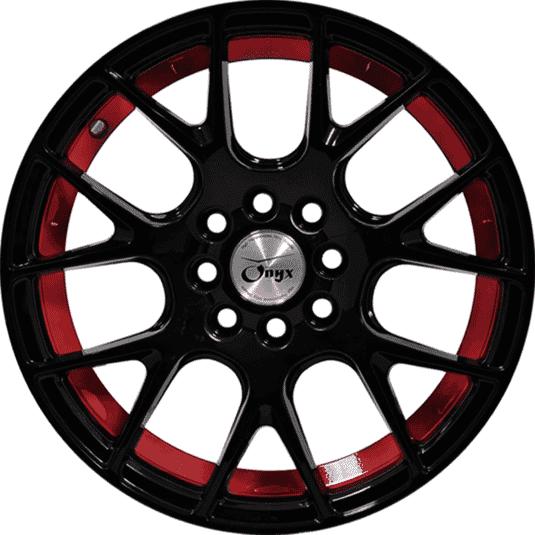 "15"" Onyx 1521 Black Glossy w Red Ring"
