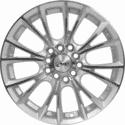 "15"" Onyx 1504 Silver Satin & Polished Metal"