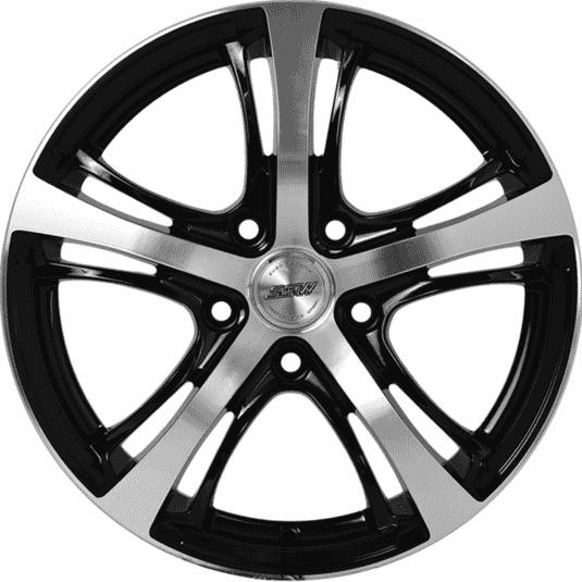 "16"" SSW E102 Black Glossy & Polished Metal"