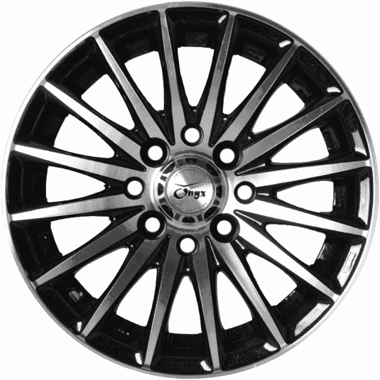 "13"" Onyx 1322 Black Glossy & Polished Metal"