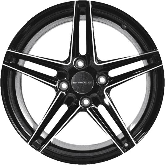 "15"" Onyx 0575U Black Glossy & Polished Metal Milling"