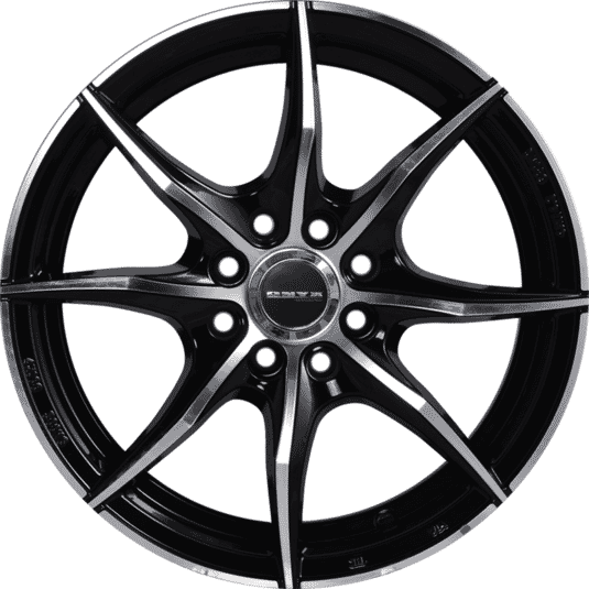 "15"" Onyx ML552 Black Glossy & Polished Metal Milling"