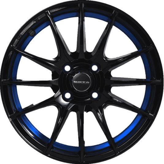 "15"" Onyx MM581 Black Glossy w Blue Ring"