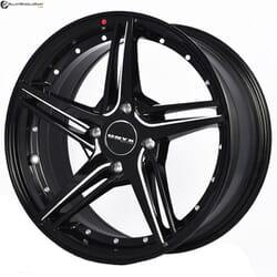 "15"" Onyx MQ693 Black Glossy & Polished Metal Milling"