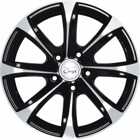 "16"" Onyx 1617 Black Glossy & Polished Metal"
