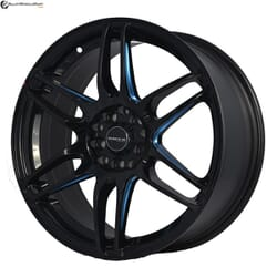 "17"" Onyx M1581 Black Glossy & Gloss Blue"