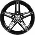 "14"" Onyx 1404 Black Glossy & Polished Metal"