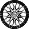 "14"" Onyx 1450 Black Glossy & Polished Metal"