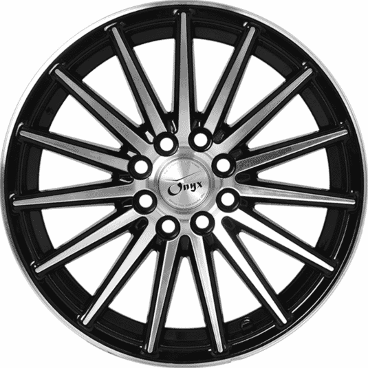 "16"" Onyx 1616 Black Glossy & Polished Metal"