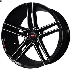 "18"" Inforged 2243 Black Glossy & Polished Metal"