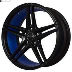 "18"" Advanti MM575U Black Satin w Blue Ring"