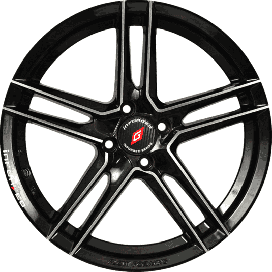 "17"" Inforged 2243 Black Glossy & Polished metal"