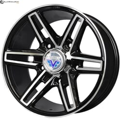 "16"" Prestige 6004 Black Glossy & Polished Metal"
