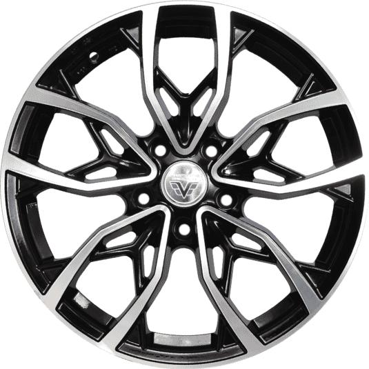 "17"" Prestige 2057 Black Glossy & Polished Metal"