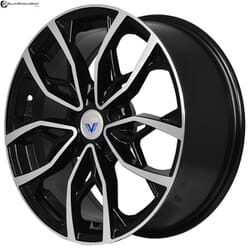 "17"" Prestige 2057 Black Glossy & Polished Metal"