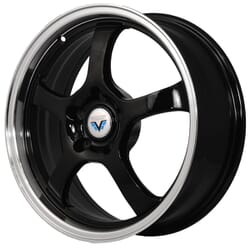 "17"" Prestige 430 Black Glossy & Polished Metal"