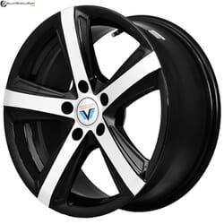 "17"" Prestige 3257 Black Glossy & Polished Metal"