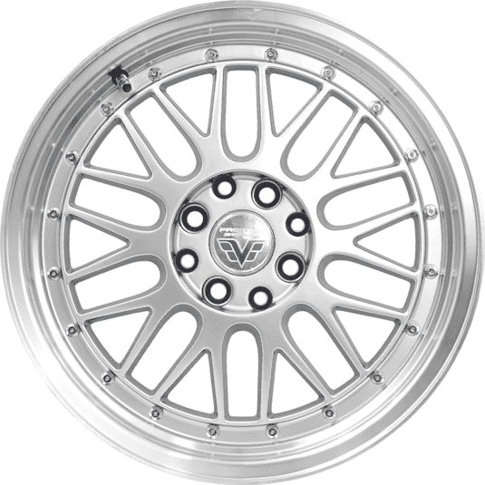 "16"" Prestige 306 Silver (Hyper) Glossy And Machined Metal"