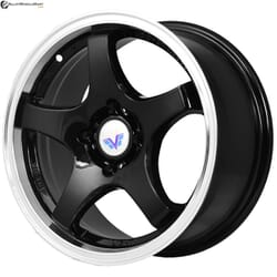 "15"" Prestige 879 Black Glossy & Polished Metal"