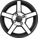 "14"" Prestige 693 Black Satin & Matt Silver"