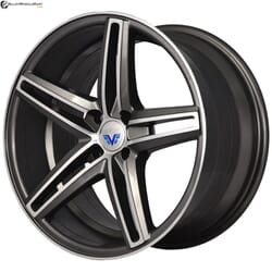 "17"" Prestige 784 Gun Metal Glossy & Polished Metal 4 100"