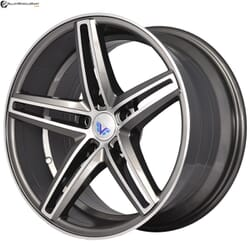 "17"" Prestige 784 Gun Metal Glossy & Polished Metal 5 114.3"