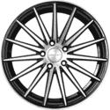 "18"" Prestige 890 Black Glossy & Polished Metal"