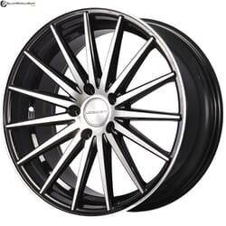 "18"" Prestige 890 Black Glossy & Polished Metal"