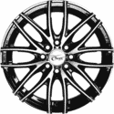 "13"" Onyx 1335 Black Glossy & Polished Metal 8h"