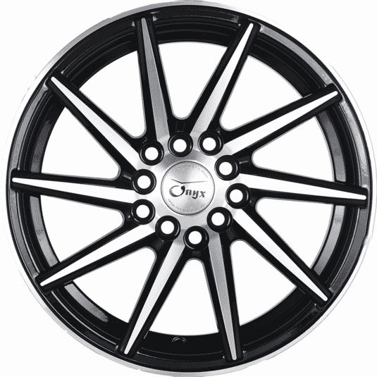 "15"" Onyx 1552 Black Glossy & Polished Metal 8h"