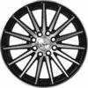 "15"" Onyx 1553 Black Glossy & Polished Metal 8h"