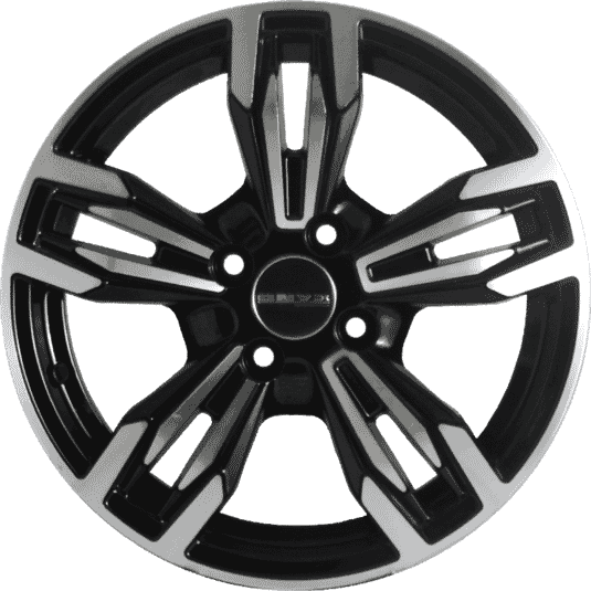 "15"" Onyx 1549 Black Glossy & Polished Metal"