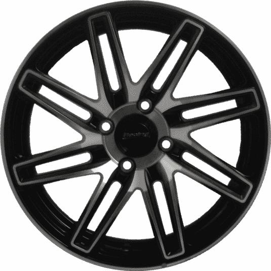 "15"" Onyx MP669 Black Glossy & Polished Metal"