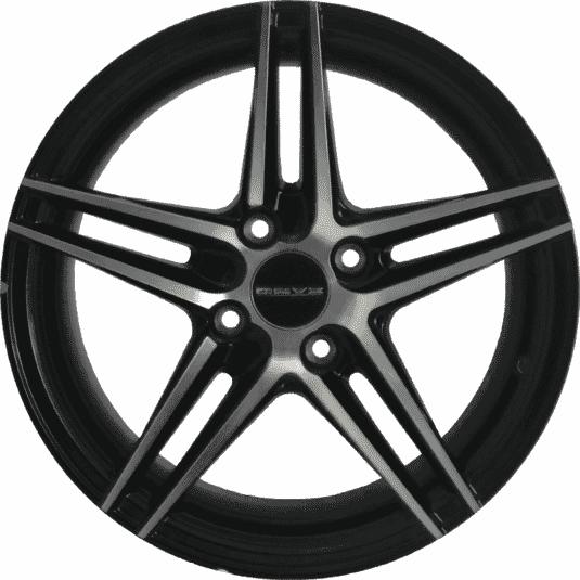 "15"" Onyx 0575U Black Glossy & Polished Metal"