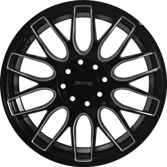 "15"" Onyx M8501 Black Glossy & Silver Milling 8h"