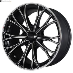 "17"" Onyx MP666 Black Glossy & Silver Milling 5 114.3"