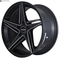 "17"" Onyx MQ693 Black Glossy & Silver Milling"