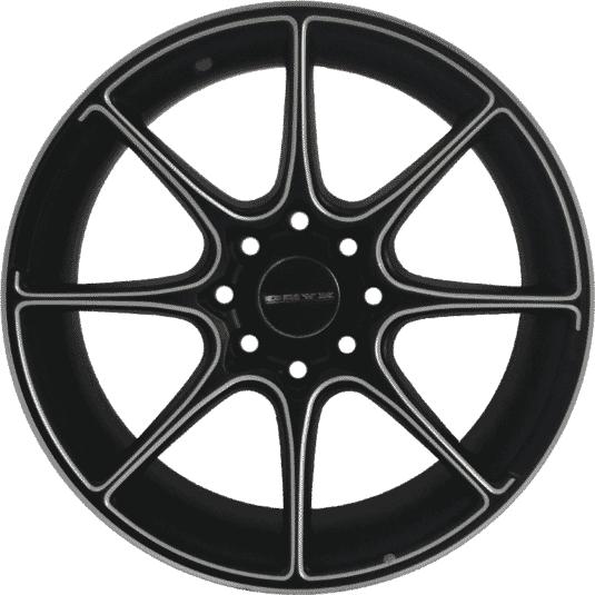 "17"" Onyx MP660 Black Satin & Silver Milling"