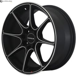 "17"" Onyx MP660 Black Satin & Silver Milling"