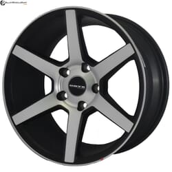 "16"" Onyx MN606 Black Satin & Matt Silver"